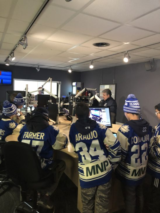 The Terriers in studio last year with Boom 97.1